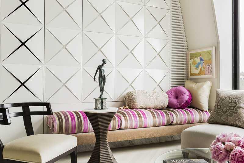 Platemark Interior Design Commonwealth Avenue Upholstered Bench