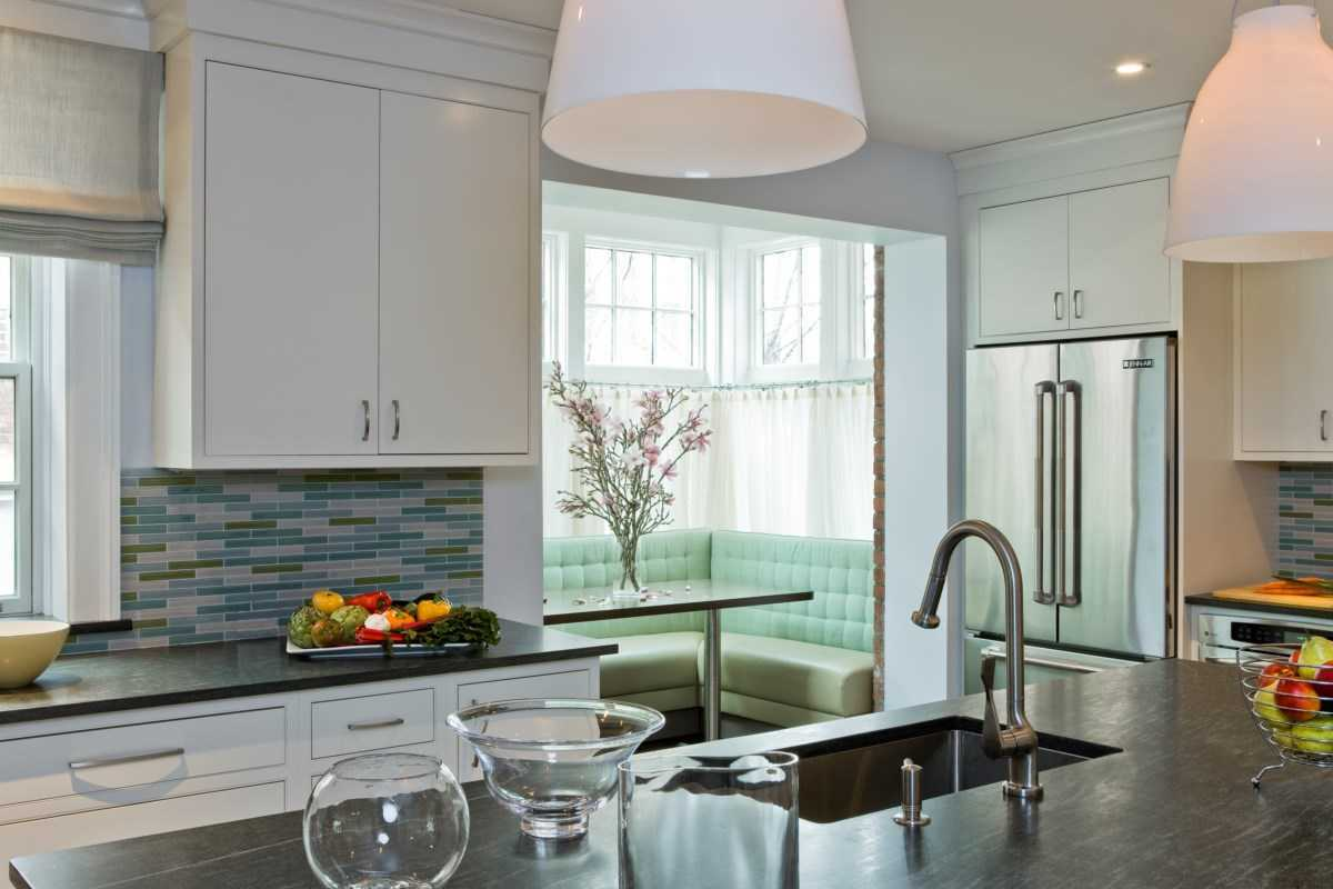 Platemark Interior Design Brookline Kitchen Breakfast Nook 2