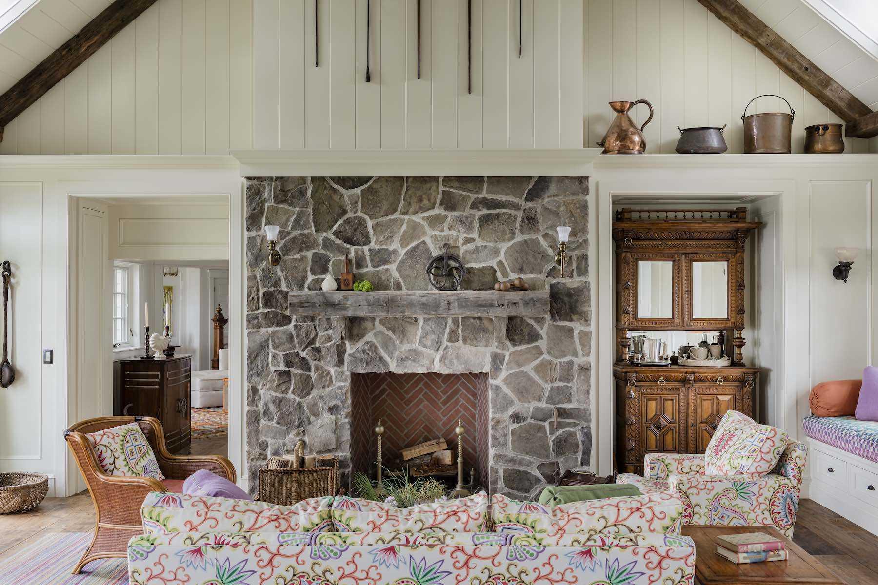Platemark Interior Design Chatham Fireplace