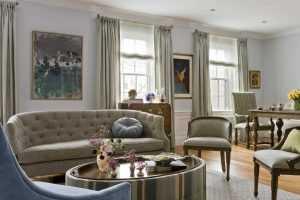 Platemark Interior Design Brookline Living Room Sofa