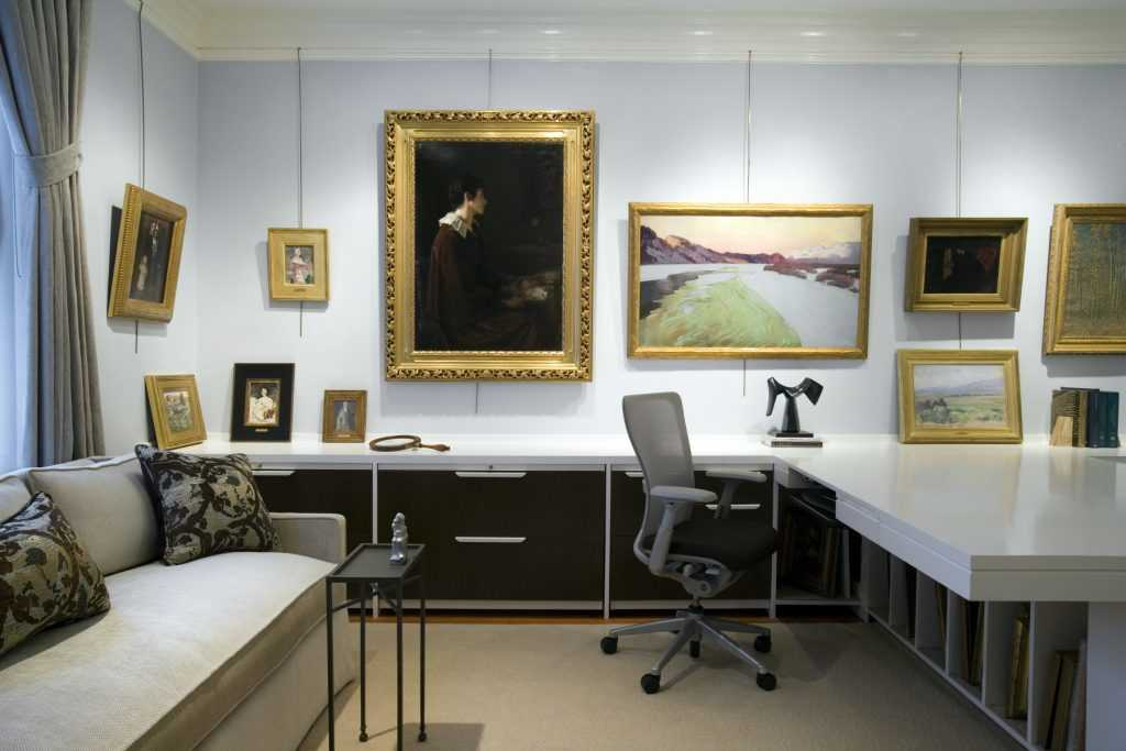 Platemark Interior Design Newbury Street Gallery Art Desk