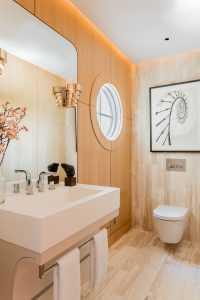 Platemark Interior Design Wellesley Powder Room