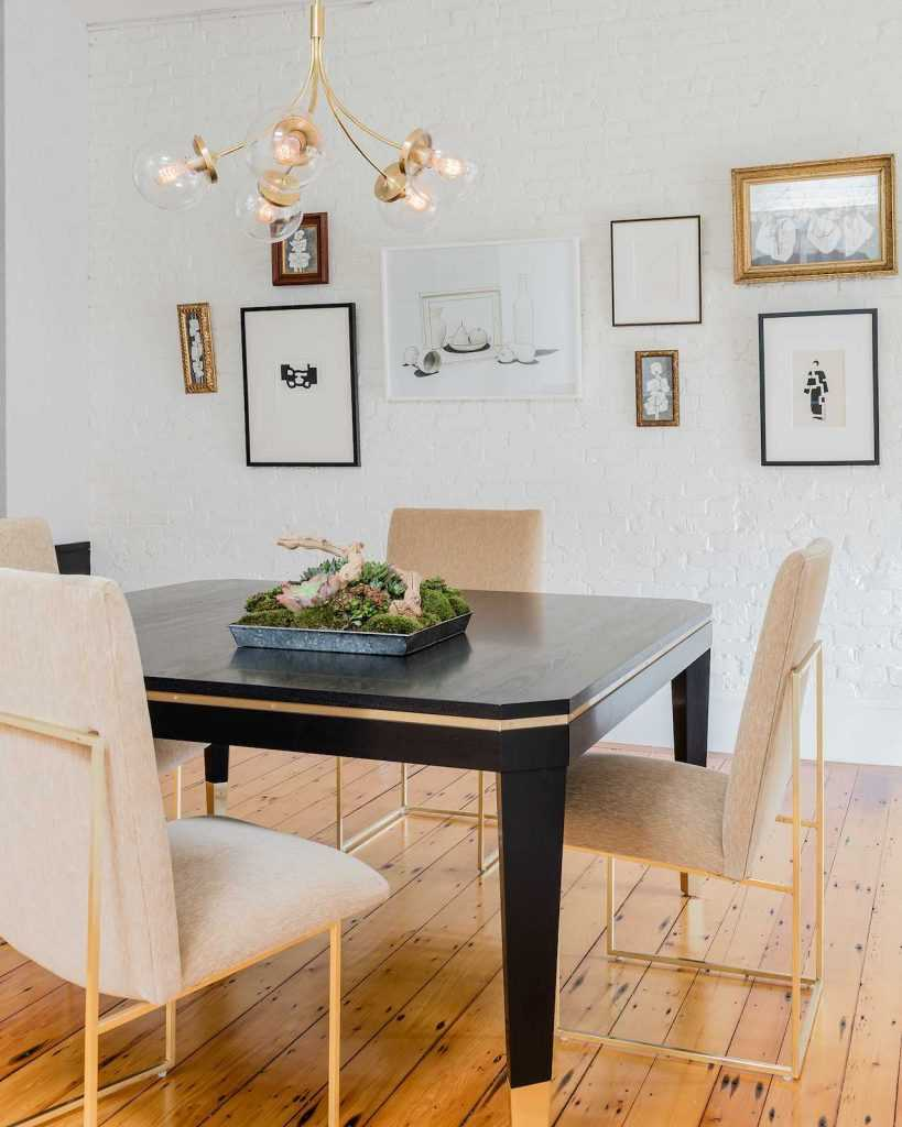 Platemark Interior Design Wellington Street South End Boston Dining Room Table