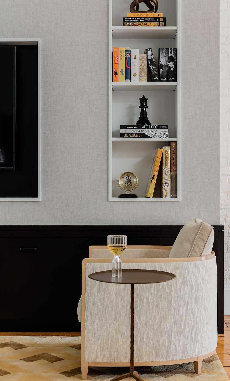 Platemark Interior Design Wellington Street South End Boston Living Room Chair