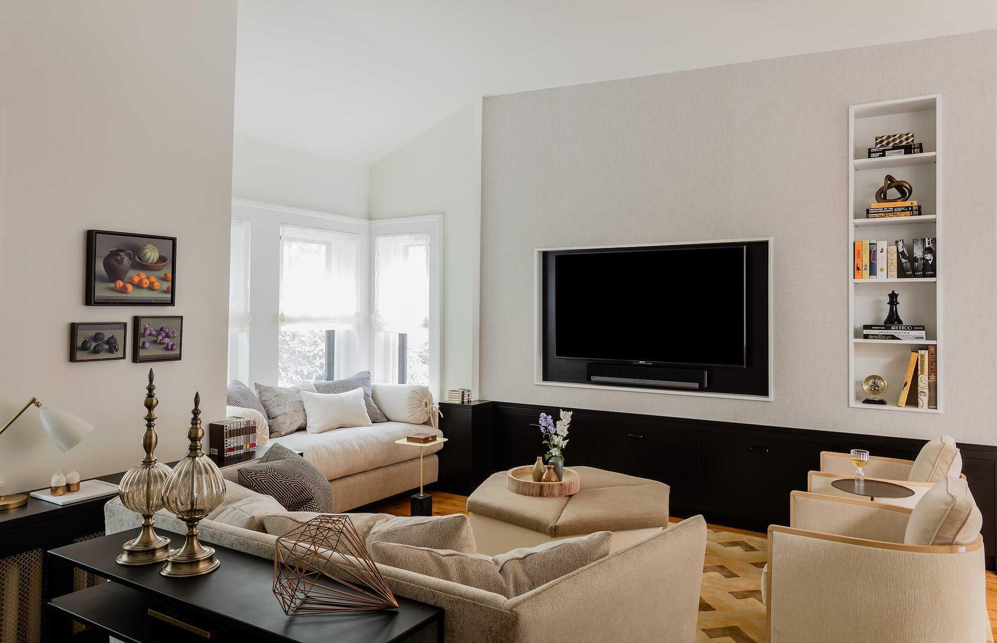 Platemark Interior Design Wellington Street South End Boston Living Room Tv